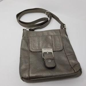Nine West Crossbody Bag. Silver gray. Like new.